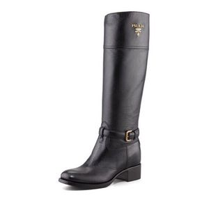 Prada Tall Riding Boot, Black